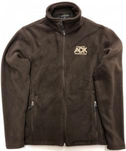 brown men's fleece jacket