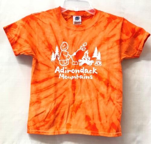 kids orange tie-dye camper tee