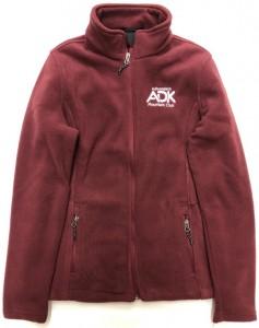 maroon women's fleece jacket