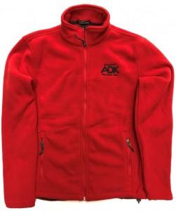 red men's fleece jacket