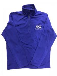 purple women's thermal 1/4 zip jacket