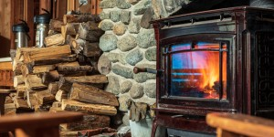 Johns Brook Lodge's wood stove