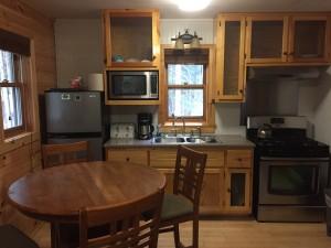 Kitchen Campground Cabin