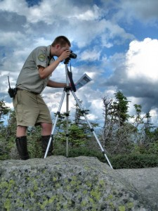 Seth conducting Photopoint Monitoring research as a summit steward.
