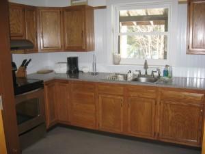 Trails Cabin kitchen