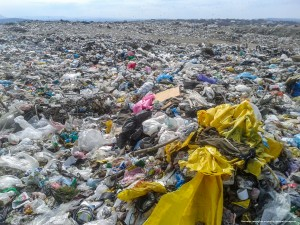 Acres of plastic trash