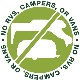 No RVs, Campers, or Camper Vans
