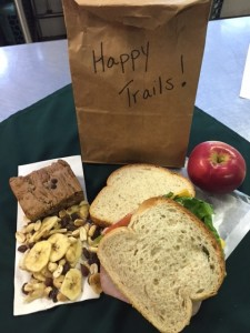 A trail lunch for guests