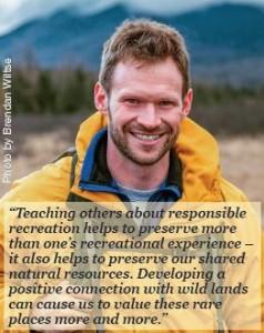 Portrait of our outdoor skills coordinator