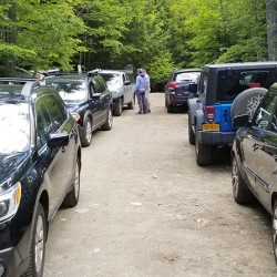 The Garden Parking lot with cars
