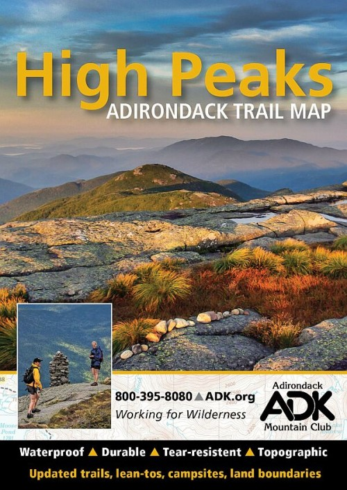 ADK High Peaks Adirondack Trail Map