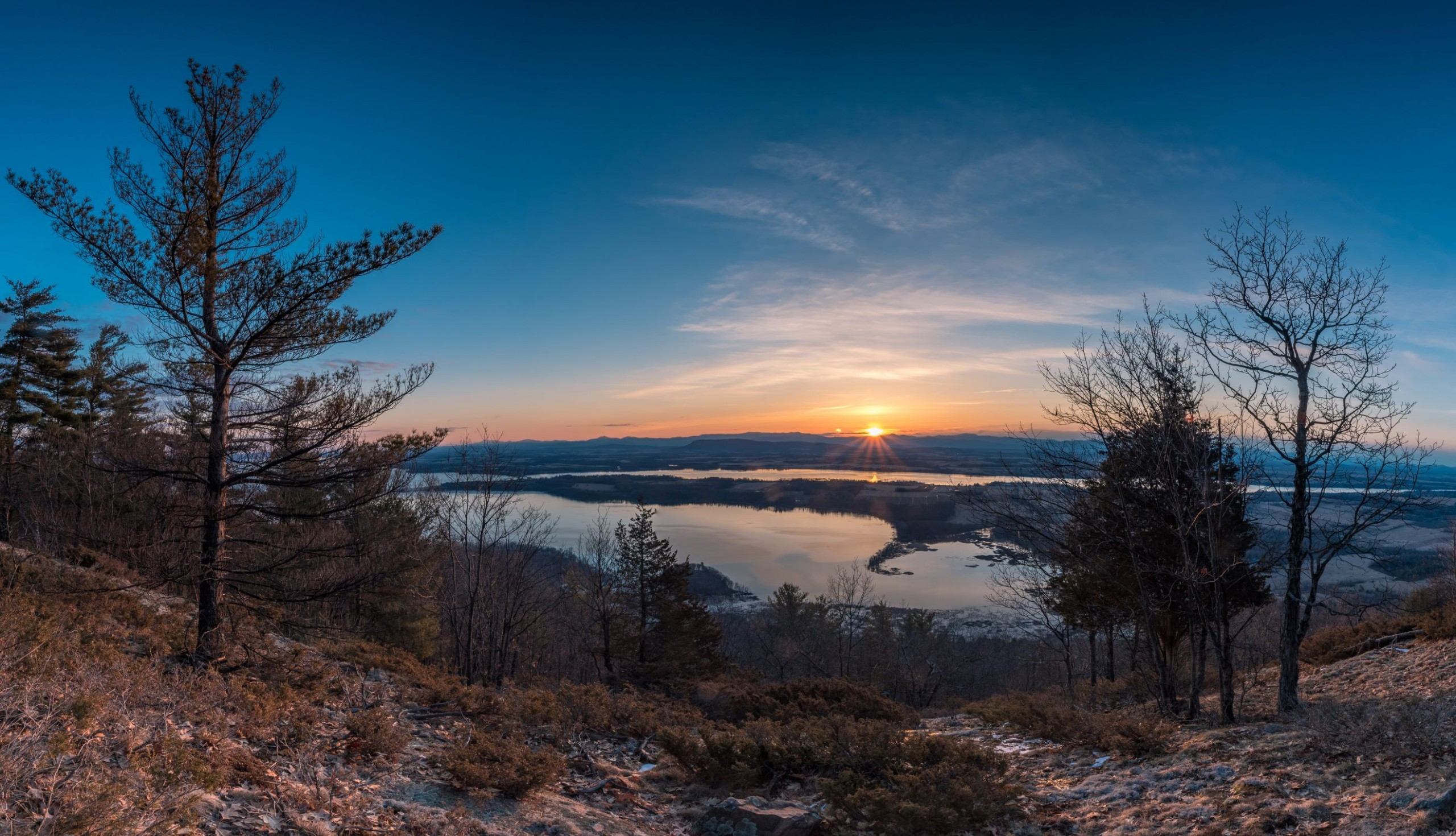 Sunrise from a mountain summit
