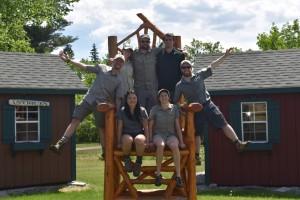 crew on big chair