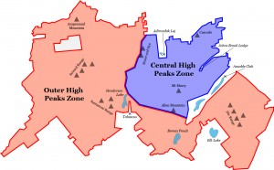 Central and Outer High Peaks map