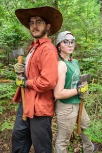 Trail crew members