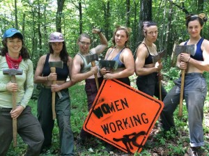 women trail crew