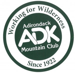 "ADK logo with ""working for wilderness"" text"