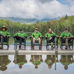 summer naturalists on the Heart Lake dock