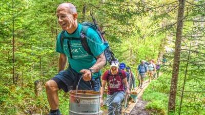 Dan Kane and Trail volunteers