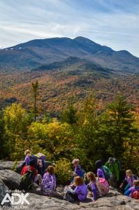 Children on summit, fall