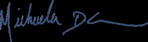 Michaela's signature
