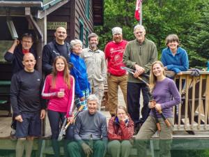 Dan Kane and volunteer trail crew at JBL