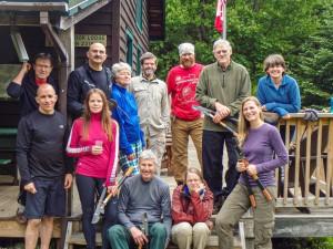 ADK volunteer trail maintenance crews at Johns Brook Lodge