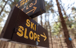 Sign that says ski slope