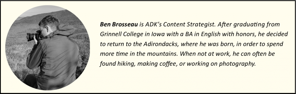 Biography for Ben Brosseau with portrait and text