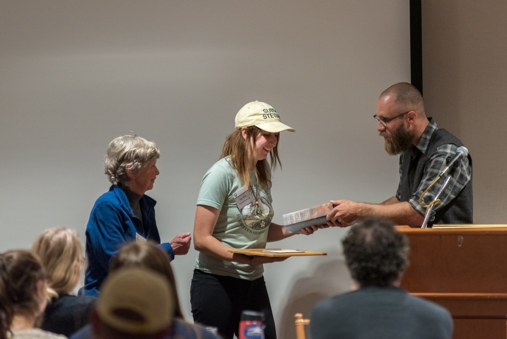 Kayla White receives the Emerging Alpine Steward Award