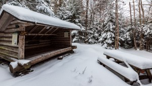 Crandall Lean-to in winter