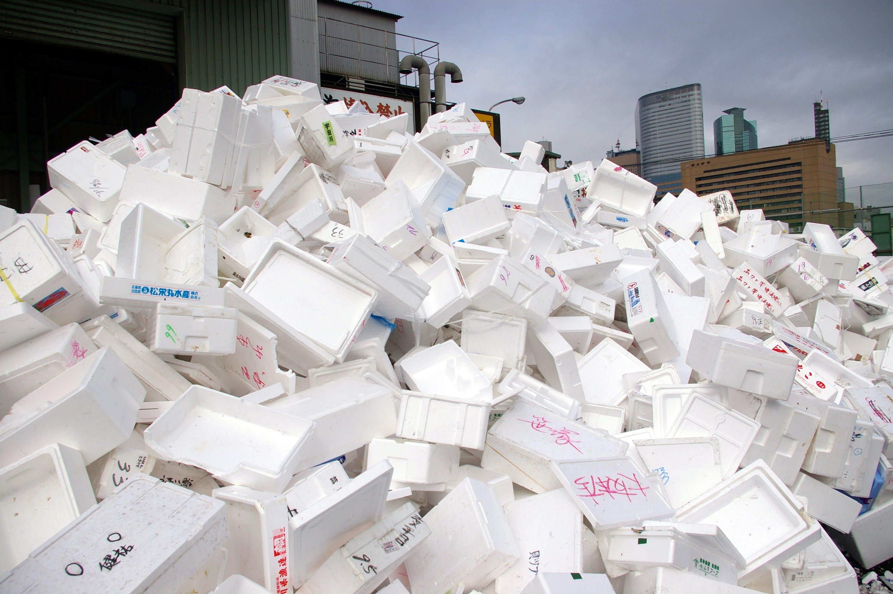Styrofoam mountain