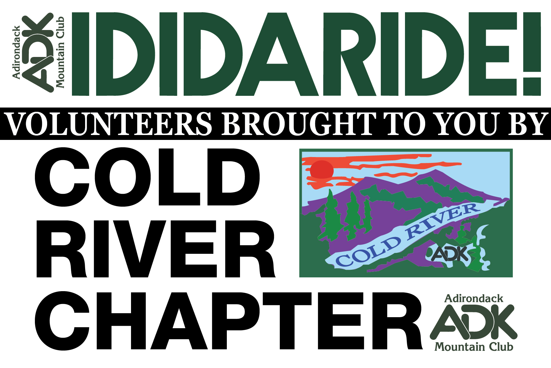 Cold River Chapter Road Sign