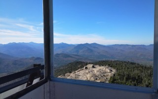 A landscape view from a fire tower