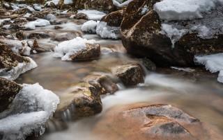 A snowy brook