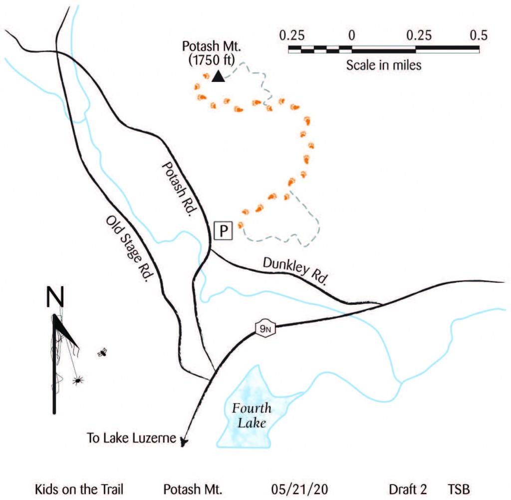 A map of Potash Mountain