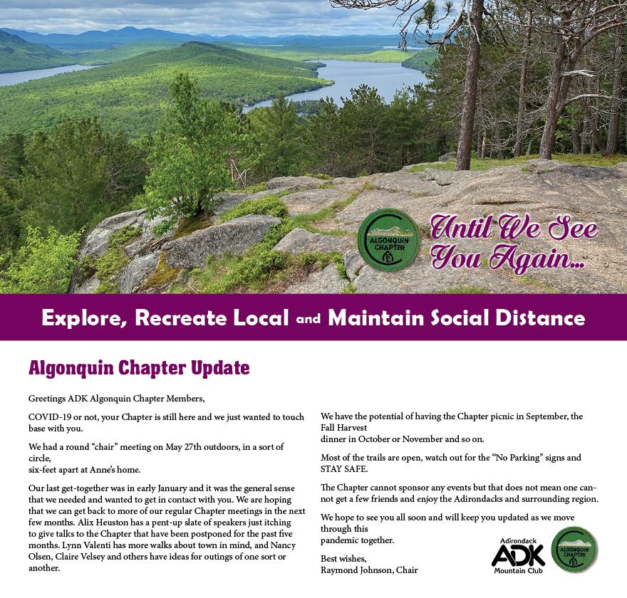 Algonquin Chapter Update June 2020