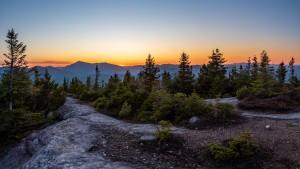 Mountain panorama of a sunset