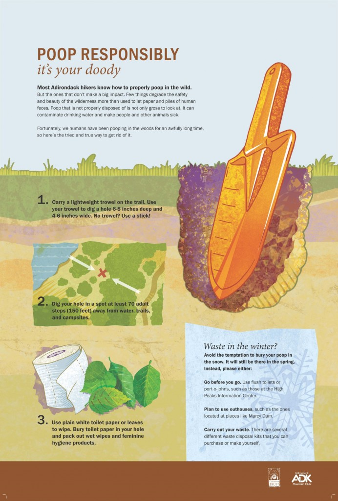 A graphic about digging a cathole