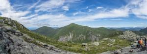 A mountain panorama