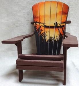 Adirondack chair with scene