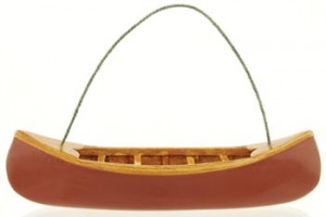 Red canoe ornament