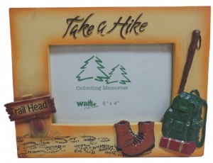 Picture frame that says Take a Hike