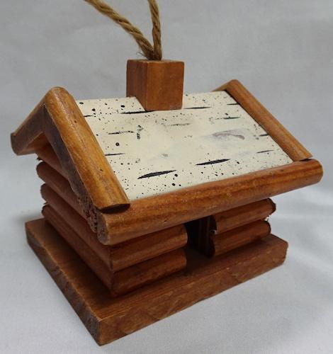 Large log cabin ornament