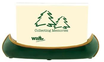 Green canoe photo holder