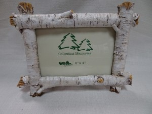 Birch log picture frame