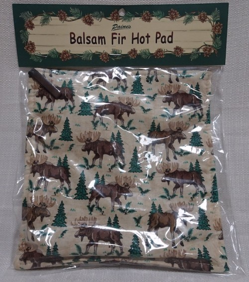 Balsam hot pad with moose