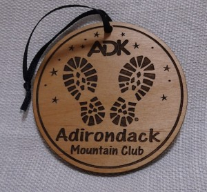 ADK round wood ornament