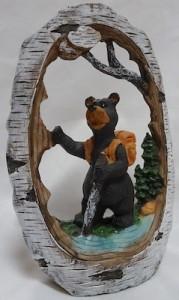 Bear in birch bark