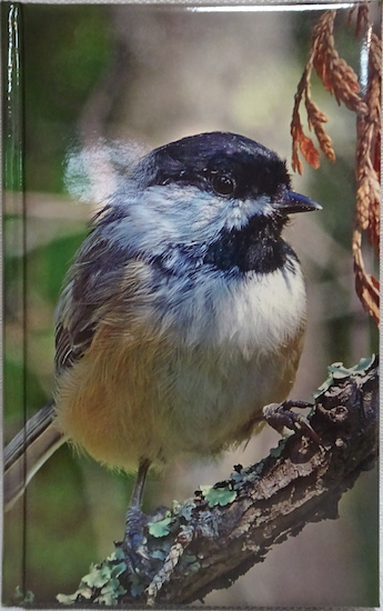 Journal with image of chickadee on cover